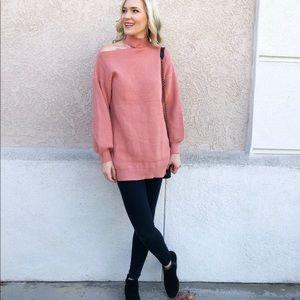 Cutout Sweater Dress